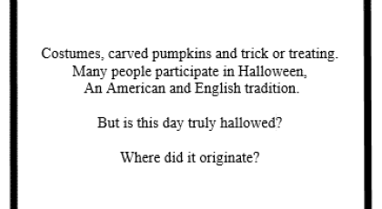 Halloween – Do You Know the Truth?